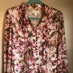 Coldwater Creek Splash/Tye Dye blouse